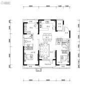 万科圣丰・翡翠之光2室2厅2卫118平方米户型图