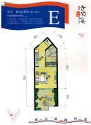 恒泰・时间海1室1厅1卫40平方米户型图
