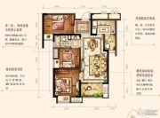 中海琴台华府3室2厅1卫89平方米户型图