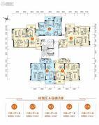 胜利茶博城3室2厅2卫106平方米户型图