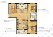 越秀星汇金沙3室2厅1卫109平方米户型图