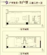星信国际公寓2室2厅1卫60平方米户型图