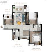 德润・天悦3室2厅1卫80--82平方米户型图