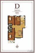 尚东金汇3室2厅2卫128平方米户型图