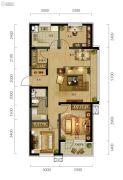 万科城市阳光3室2厅1卫110平方米户型图
