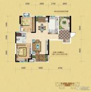 中铁逸都2室2厅1卫93平方米户型图