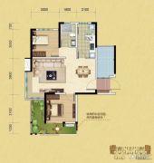 中铁逸都2室2厅1卫85平方米户型图