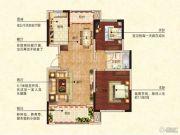 御景华庭2室2厅2卫97平方米户型图