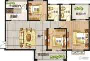 龙城国际3室2厅2卫0平方米户型图