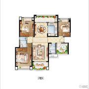 雅居乐・星河湾4室2厅2卫131平方米户型图