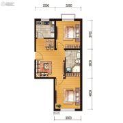 世百居・洪湖湾2室2厅1卫65平方米户型图
