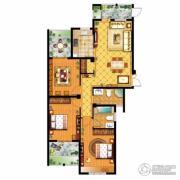 信达银郡3室2厅2卫128平方米户型图