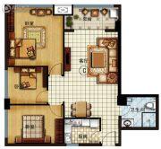 长安公馆3室2厅1卫119平方米户型图