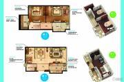 南京金奥缤润汇3室2厅1卫96平方米户型图