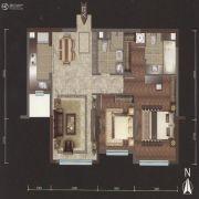 越秀星汇云锦2室2厅2卫110平方米户型图