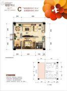峨眉・时光2室1厅1卫47--65平方米户型图