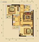 华晟豪庭三期2室1厅1卫59平方米户型图