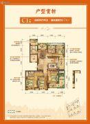 天都城・天澜4室2厅2卫0平方米户型图