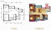 滨江国际4室2厅2卫105平方米户型图
