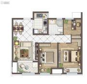 苏胥湾3室2厅1卫88平方米户型图