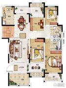 民安北郡4室2厅2卫136平方米户型图