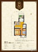 御景园2室2厅1卫72平方米户型图