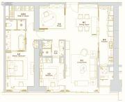 环球西安中心3室1厅2卫187平方米户型图