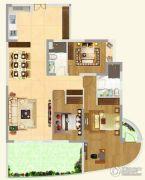 保利国际中心3室2厅2卫110平方米户型图