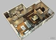 鲁商国奥城2室2厅1卫0平方米户型图