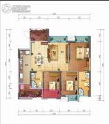 佳兆业丽晶公馆3室2厅2卫89平方米户型图