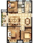 盛世景庭3室2厅1卫0平方米户型图