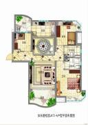 碧桂园东洲壹�院3室1厅2卫128平方米户型图