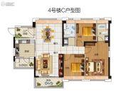 碧桂园豪进左岸3室2厅2卫111平方米户型图