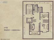 舜天嘉园2室2厅1卫88平方米户型图