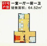 世苑大厦1室1厅1卫0平方米户型图