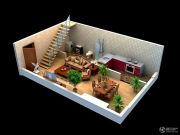太白山水1室2厅2卫0平方米户型图