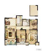 紫金上品苑3室2厅1卫89平方米户型图