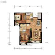 金地檀悦2室2厅1卫74平方米户型图