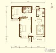 鸿坤・原乡溪谷2室2厅1卫85--89平方米户型图