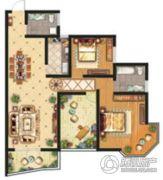 祥安东城国际花园2室2厅2卫116平方米户型图