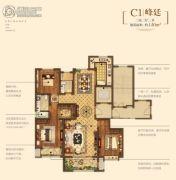 金地悦峰3室2厅2卫140平方米户型图