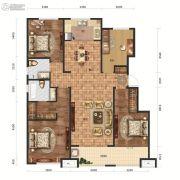 保利中心4室2厅2卫150平方米户型图