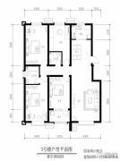 御宇国际城4室2厅2卫156平方米户型图