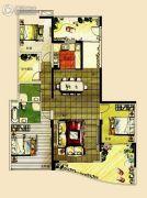 宝德时代华府3室2厅2卫181平方米户型图