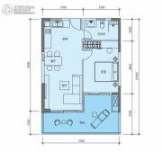 华润小径湾二期1室2厅1卫82平方米户型图