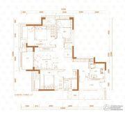 万科西城3室2厅1卫77平方米户型图