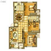 碧桂园银亿・大城印象3室2厅1卫102平方米户型图