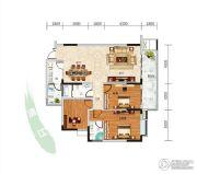 长阳清江山水・最山水3室2厅2卫136平方米户型图