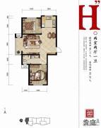 燕都紫庭2室2厅1卫86平方米户型图