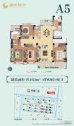 南通国城�Z府3室2厅2卫160平方米户型图